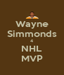 Wayne Simmonds 4 NHL MVP - Personalised Poster A4 size
