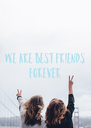 We are best friends  forever  - Personalised Poster A4 size