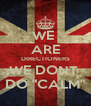 "WE  ARE DIRECTIONERS WE DONT  DO ""CALM"" - Personalised Poster A4 size"