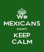 We MEXICANS DON'T KEEP CALM - Personalised Poster A4 size