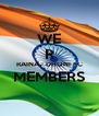 WE R RAINA - DHONI FC MEMBERS  - Personalised Poster A4 size