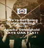 """We're not going to stop fighting,"" Naelyn Pike. Apache Stronghold SAVE OAK FLAT! - Personalised Poster A4 size"
