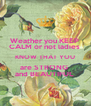 Weather you KEEP  CALM or not ladies  KNOW THAT YOU are STRONG  and BEAUTIFUL  - Personalised Poster A4 size