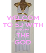 WELCOM TO 5J WITH PINKSAR  THE GOD - Personalised Poster A4 size