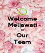 Welcome Meliawati to Our Team - Personalised Poster A4 size