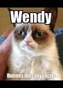 Wendy Buenos días jovencita - Personalised Poster A4 size