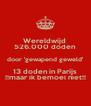 Wereldwijd  526.000 doden  door 'gewapend geweld' 13 doden in Parijs !!maar ik bemoei niet!! - Personalised Poster A4 size