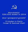 Wereldwijd  526.000 doden in 2014 door 'gewapend geweld' 13 doden in Parijs !!maar ik bemoei niet!! - Personalised Poster A4 size