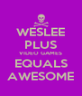 WESLEE PLUS VIDEO GAMES EQUALS AWESOME - Personalised Poster A4 size