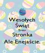Wesołych Świąt Życzy Stronka Ale Enejaście. - Personalised Poster A4 size