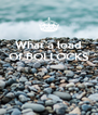 What a load Of BOLLOCKS    - Personalised Poster A4 size