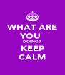 WHAT ARE YOU  DOING? KEEP CALM - Personalised Poster A4 size