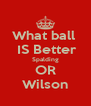 What ball   IS Better Spalding OR Wilson - Personalised Poster A4 size