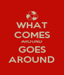 WHAT COMES AROUND GOES AROUND - Personalised Poster A4 size