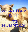 WHAT DAY IS IT?  IT'S HUMPDAY - Personalised Poster A4 size