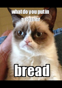 what do you put in a toaster  bread - Personalised Poster A4 size