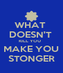 WHAT  DOESN'T  KILL YOU   MAKE YOU STONGER - Personalised Poster A4 size