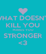 WHAT DOESN'T KILL YOU MAKES YOU STRONGER <3 - Personalised Poster A4 size