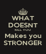 WHAT DOESNT KILL YOU Makes you STRONGER - Personalised Poster A4 size