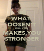 WHAT  DOSEN'T KILL YOU  MAKES YOU STRONGER - Personalised Poster A4 size