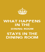 WHAT HAPPENS IN THE DINING ROOM STAYS IN THE DINING ROOM - Personalised Poster A4 size