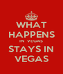 WHAT HAPPENS IN  VEGAS STAYS IN VEGAS - Personalised Poster A4 size