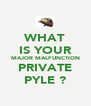 WHAT IS YOUR MAJOR MALFUNCTION PRIVATE PYLE ? - Personalised Poster A4 size