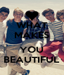 WHAT MAKES  YOU BEAUTIFUL - Personalised Poster A4 size