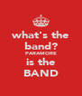 what's the band? PARAMORE is the BAND - Personalised Poster A4 size