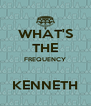 WHAT'S THE FREQUENCY  KENNETH - Personalised Poster A4 size