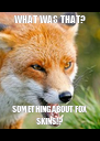WHAT WAS THAT? SOMETHING ABOUT FOX SKINS!? - Personalised Poster A4 size