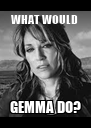 WHAT WOULD  GEMMA DO? - Personalised Poster A4 size