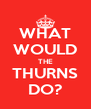 WHAT WOULD THE THURNS DO? - Personalised Poster A4 size