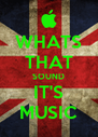 WHATS THAT SOUND IT'S MUSIC - Personalised Poster A4 size