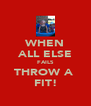 WHEN ALL ELSE FAILS THROW A  FIT! - Personalised Poster A4 size