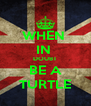 WHEN  IN  DOUBT BE A TURTLE - Personalised Poster A4 size