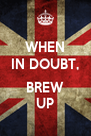 WHEN IN DOUBT,  BREW UP - Personalised Poster A4 size