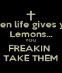 When life gives you Lemons... YOU FREAKIN  TAKE THEM - Personalised Poster A4 size
