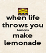 when life throws you lemons make lemonade - Personalised Poster A4 size