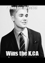 When one direction  Wins the K.CA - Personalised Poster A4 size