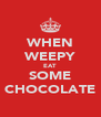 WHEN WEEPY EAT SOME CHOCOLATE - Personalised Poster A4 size
