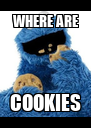 WHERE ARE COOKIES - Personalised Poster A4 size