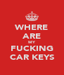 WHERE ARE MY FUCKING CAR KEYS - Personalised Poster A4 size