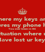Where my keys and  Wheres my phone have You ever been in tht Situation where u  Have lost ur keys - Personalised Poster A4 size