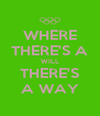 WHERE THERE'S A WILL THERE'S A WAY - Personalised Poster A4 size
