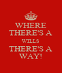 WHERE THERE'S A WILLS THERE'S A WAY! - Personalised Poster A4 size