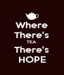 Where There's TEA There's HOPE - Personalised Poster A4 size