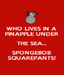 WHO LIVES IN A PINAPPLE UNDER THE SEA... SPONGEBOB SQUAREPANTS! - Personalised Poster A4 size