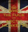 WHO THE FUCK ARE ARCTIC MONKEYS? - Personalised Poster A4 size