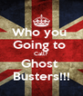 Who you  Going to  Call? Ghost  Busters!!! - Personalised Poster A4 size